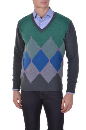 argyl-pullover
